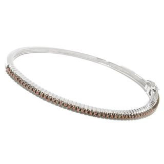 Sterling Silver 1/2ct TDW Red Diamond Stackable Bangle Bracelet (3 options available)