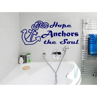 Anchor Quotes Vinyl Quote Hope Anchors the Soul Phrase Home Nautical Decor Bathroom Sticker Decal si