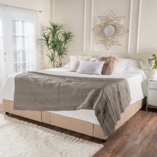 Wednesday Upholstered Fabric King Bed Frame with Drawers by Christopher Knight Home