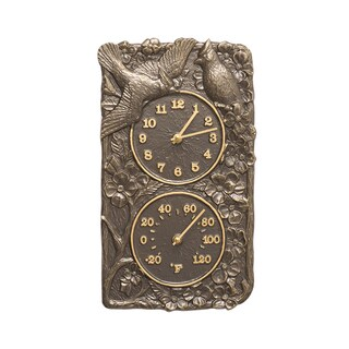 White Hall Cardinal Combo Clock And Thermometer - French Bronze