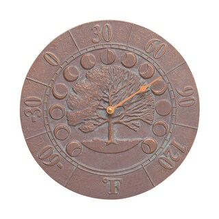 White Hall Times And Seasons Thermometer - Copper Verdigris