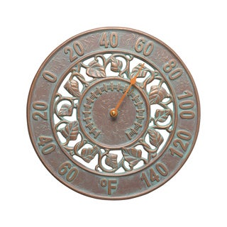 White Hall Home Indoor Ivy Silhouette Thermometer - Copper Verdigris