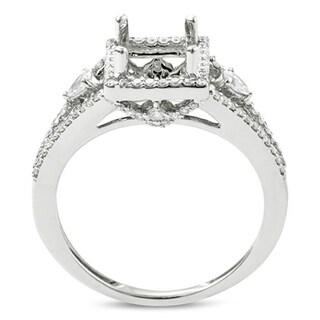 18k Gold 5/8ct TDW Diamond Semi Mount Engagement Ring (I-J, I1-I2)