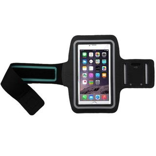 Insten Black Vertical Pouch Universal Sport Armband with Adjustable Armband