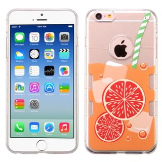Insten Clear/ Orange Orange Soda TPU Rubber Candy Skin Case Cover For Apple iPhone 6/ 6s