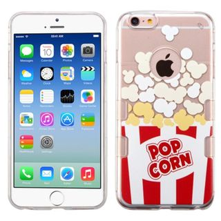 Insten Red/ White Butter Popcorn TPU Rubber Candy Skin Case Cover For Apple iPhone 6/ 6s