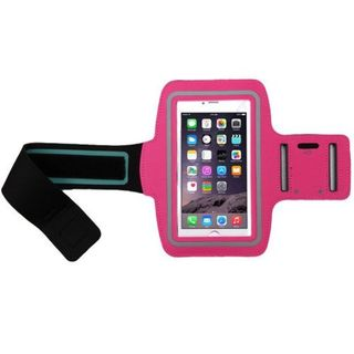Insten Hot Pink Vertical Pouch Universal Sport Armband with Adjustable Armband