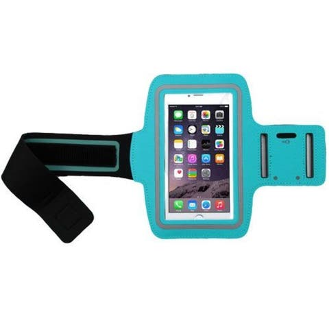 Insten Blue Vertical Pouch Universal Sport Armband with Adjustable Armband