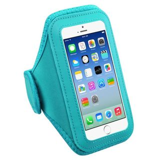 Insten Baby Blue Universal Vertical Pouch 5.7 x 3.1 x 0.5-inch Sport Armband for iPhone 6/ 6s Plus/ HTC One XL/ LG G2
