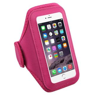Insten Hot Pink Universal Vertical Pouch 6.4 x3.1 x 0.5-inch Sport Armband for iPhone 6s/ 6 Plus/ HTE One M8/ ZTE Prestige