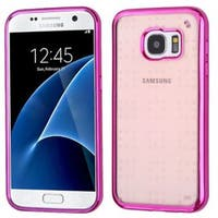 Insten Hot Pink TPU Rubber Candy Skin Case Cover For Samsung Galaxy S7