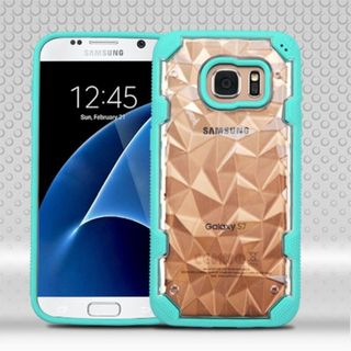 Insten Clear/ Teal Hard Snap-on Case Cover For Samsung Galaxy S7