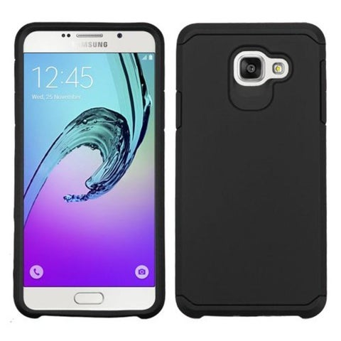 Insten Black Hard PC/ Silicone Dual Layer Hybrid Rubberized Matte Case Cover For Samsung Galaxy A7 (2016)