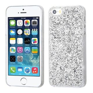 Insten Silver Hard Snap-on Rhinestone Bling Case Cover For Apple iPhone 5/ 5S/ SE