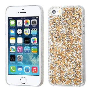 Insten Rose Gold Hard Snap-on Rhinestone Bling Case Cover For Apple iPhone 5/ 5S/ SE