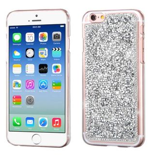 Insten Silver Hard Snap-on Rhinestone Bling Case Cover For Apple iPhone 6/ 6s