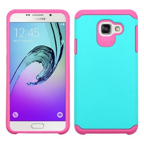 Insten Green/ Hot Pink Hard PC/ Silicone Dual Layer Hybrid Rubberized Matte Case Cover For Samsung Galaxy A7 (2016)