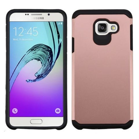 Insten Rose Gold/ Black Hard PC/ Silicone Dual Layer Hybrid Rubberized Matte Case Cover For Samsung Galaxy A7 (2016)