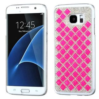 Insten Hot Pink Hard Snap-on Diamond Bling Case Cover For Samsung Galaxy S7 Edge