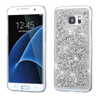 Insten Silver Hard Snap-on Diamond Bling Case Cover For Samsung Galaxy S7 Edge