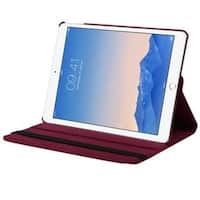 Insten Red Swivel Leather Case Cover with Stand For Apple iPad Air 2