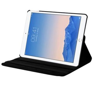 Insten Black Swivel Leather Case Cover with Stand For Apple iPad Air 2