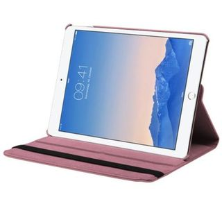 Insten Pink Swivel Leather Case Cover with Stand For Apple iPad Air 2