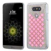 Insten Pink Hard Snap-on Diamond Bling Case Cover For LG G5