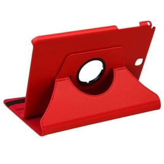 Insten Red Swivel Leather Case Cover with Stand For Samsung Galaxy Tab A 9.7