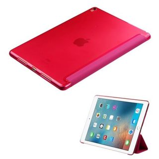 Insten Hot Pink Silk Texture Synthetic Leather Case for Apple iPad Pro 9.7-inch