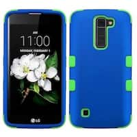 Insten Blue/ Green Hard PC/ Silicone Dual Layer Hybrid Rubberized Matte Case Cover For LG Escape 3/ K7