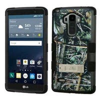 Insten Green/ Black Cedar Tree Tuff Hard PC/ Silicone Dual Layer Hybrid Case Cover with Stand For LG G Stylo/ G Vista 2