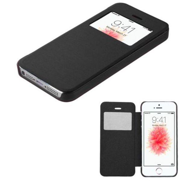 Insten Black Leather Case Cover For Apple iPhone 5/ 5S/ SE