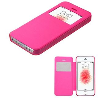 Insten Hot Pink Leather Case Cover For Apple iPhone 5/ 5S/ SE