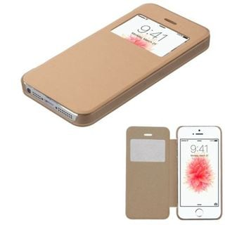 Insten Gold Leather Case Cover For Apple iPhone 5/ 5S/ SE