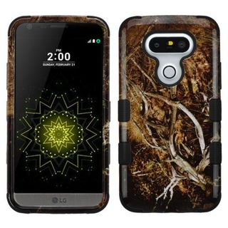 Insten Yellow/ Black Vines Tuff Hard PC/ Silicone Dual Layer Hybrid Rubberized Matte Case Cover For LG G5