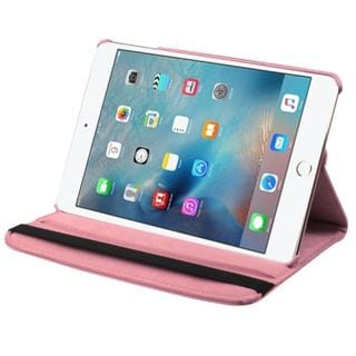 Insten Pink Swivel Leather Case Cover with Stand For Apple iPad Mini 4