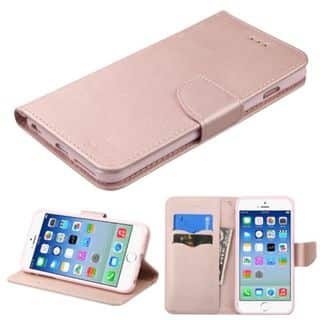 Insten Rose Gold Leather Case Cover with Stand/ Wallet Flap Pouch For Apple iPhone 6/ 6s|https://ak1.ostkcdn.com/images/products/14114014/P20720364.jpg?impolicy=medium