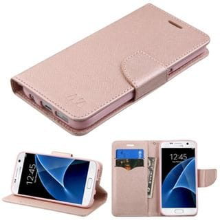 Insten Rose Gold Leather Case Cover with Stand/ Wallet Flap Pouch For Samsung Galaxy S7