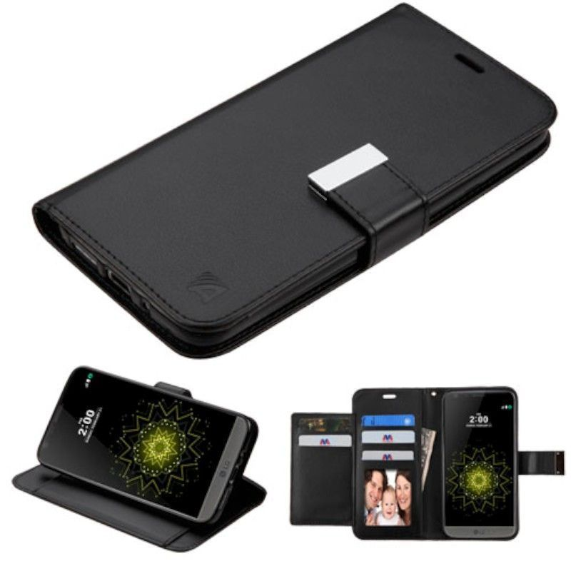 Insten Black Leather Case Cover with Stand/ Wallet Flap P...