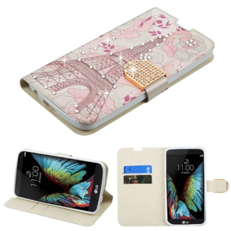 Insten Pink Eiffel Tower Leather Case Cover with Stand/ W...