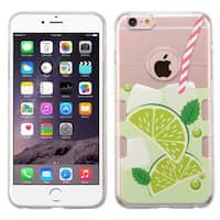 Insten Clear/ Green Mint Limeade TPU Rubber Candy Skin Case Cover For Apple iPhone 6 Plus/ 6s Plus