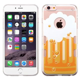Insten Clear/ Yellow Bubbly Beer TPU Rubber Candy Skin Case Cover For Apple iPhone 6 Plus/ 6s Plus