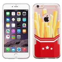 Insten Red/ Yellow French Fries TPU Rubber Candy Skin Case Cover For Apple iPhone 6 Plus/ 6s Plus