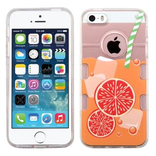 Insten Clear/ Orange Orange Soda TPU Rubber Candy Skin Case Cover For Apple iPhone 5/ 5S/ SE