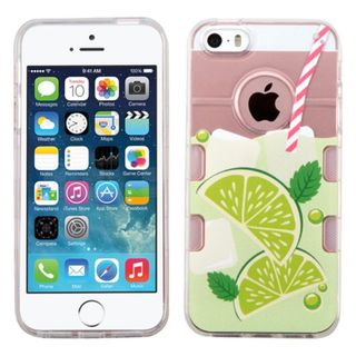 Insten Clear/ Green Mint Limeade TPU Rubber Candy Skin Case Cover For Apple iPhone 5/ 5S/ SE