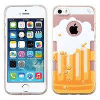 Insten Clear/ Yellow Bubbly Beer TPU Rubber Candy Skin Case Cover For Apple iPhone 5/ 5S/ SE