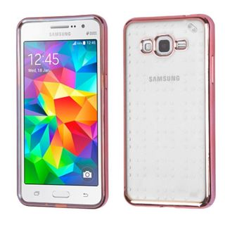 Insten Clear/ Rose Gold TPU Rubber Candy Skin Case Cover For Samsung Galaxy Grand Prime