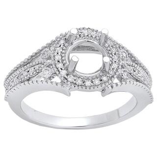 14k Gold 1/4ct TDW Diamond Split Shank Semi Mount Bridal Ring (I-J and I1-I2)