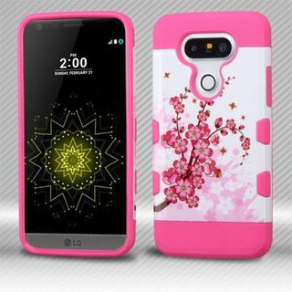 Insten Pink/ White Spring Flowers Hard Snap-on Case Cover For LG G5